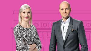 Eduskuntavaalit 2019 teemakeskustelun vetävät Sanna Savikko ja Antti Koistinen.