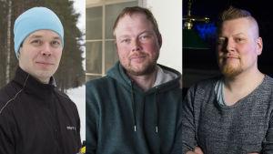Paavo Jantunen, Mikko Partanen ja Pekka Rintamaa
