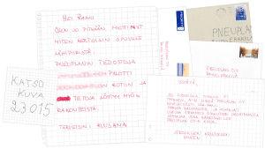 Pneuplan Oy:n saamia kirjeitä