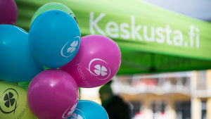 Centern kampanjerar 2017 Helsingfors.