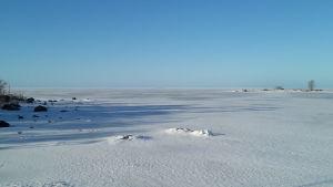Isläget vid Vallgrunds sjöbevakningsstation 22.3 2019