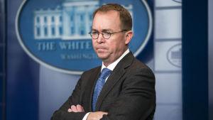 En arkivbild på Vita husets tf stabschef Mick Mulvaney från den 19 januari 2018.
