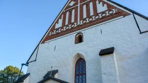 Den västra gaveln till Borgå domkyrka.