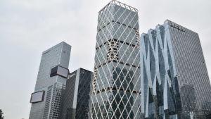 Internetföretaget Tencents huvudbyggnad i Shenzhen, Kina.
