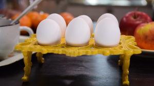 Kananmunia keittiössä