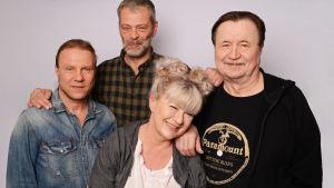 Olavi Tikka, Roman Schatz, Jake Nyman ja Tarja Närhi