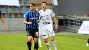 Filip Valencic och Denys Oliynyk.