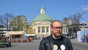 Granskningsingenjör Andreas Salonen vid Åbo stad.