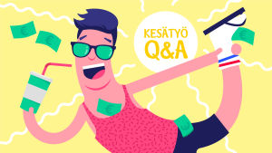Kesätyö Q&A: Palkanmaksu (kuvituskuva)
