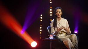 Maïmouna Jagne-Soreau medverkar i det femte avsnittet av tv-programmet De Eurovisa.