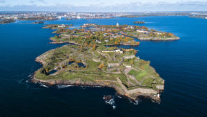 Aerial image of Suomenlinna fortress island