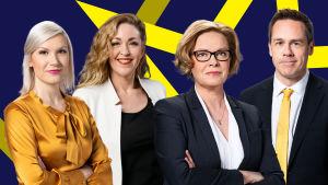 Annika Damström, Sanna Savikko, Seija Vaaherkumpu ja Janne Toivonen.