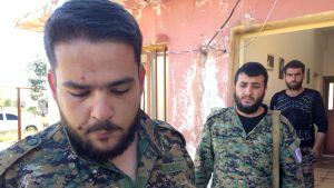 Befälhavare Aram Hanna i Syrien.