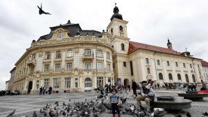 Historiska centrum av Sibiu har restaurerats med pietet.