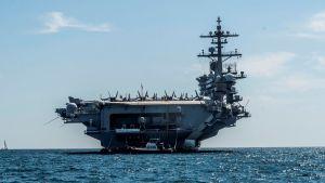 Amerikanska hangarfartyget USS Abraham Lincoln.