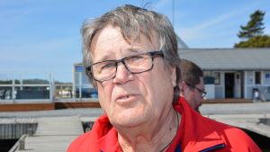 Calle Storm som är ordförande för sjöräddningen i Kimitoön.
