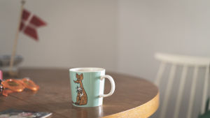 Muminmugg med Sniffmotiv på Cecilias matbord