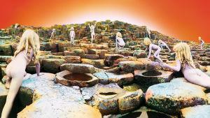 Led Zeppelinin levyn kansi. Kuva dokumenttielokuvasta Taken by Storm.