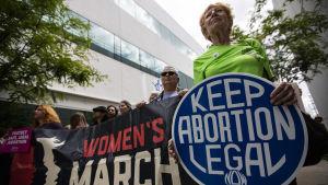 Protest för bevarande av abort.