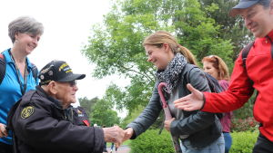 De amerikanska veteranerna fick ett hjärtligt bemötande.