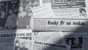 Bild av rubriker i anslutning till Rocky IV