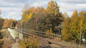 Järnvägsbro över Pojoviken i Ekenäs.