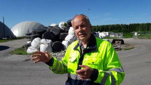 Vd Kurt Stenvall vid Jeppo Biogas Ab.