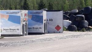 Gasflak vid Jeppo Biogas Ab.