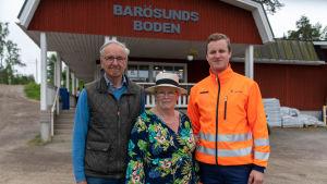 Från vänster: Tom Waselius, Anne Waselius och Jacob Waselius.
