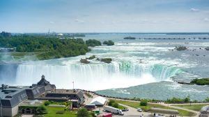 Niagaran putpus kuvattuna Kanadan puolelta