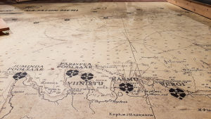 Kartbild från takten i Estland mittemot Östnyland