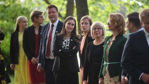 Ministrar vid Villa Bjälbo 4.7.2019.