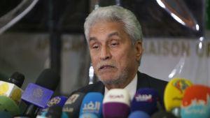 Afrikanska unionens särskilda Sudan-sändebud, mauretaniern Mohamed El Hacen Lebatt under en presskonferens i Khartoum i början av veckan.