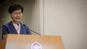 Hongkongs regeringschef Carrie Lam.