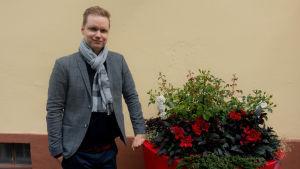 Porträtt på Juha Beuhrling-Pomoell, generalsekreterare på Konsumentförbundet.
