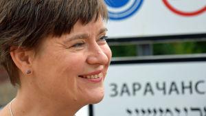 Ieva Matulionytė, talesperson för republiken Užupis i Vilnius.