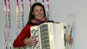 Mona-Liisa Nousiainen var även en skicklig och prisbelönad musiker. Bild från 2013.