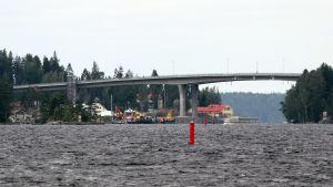 Laitaatsalmen silta Savonlinnassa heinäkuussa 2019.