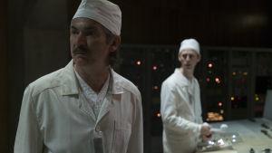Anatoly Dyatlov (spelad av Paul Ritter) var chefsingenjör på kärnkraftverket då olyckan inträffade.