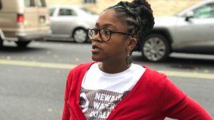 Aktivisten Sabre Bee i Newark.