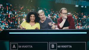 Kuvassa Johanna Virtanen, Konsta Hietanen ja Antti Pääkkönen