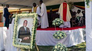 Begravningen av Robert Mugabe i hans hemby Kutama 28.9.2019