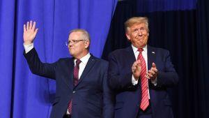 Australiens premiärminister Scott Morrison och president Donald Trump under Morrisons USA-besök den 22 september.