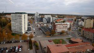 Kouvolan keskusta ylhäältä katsottuna