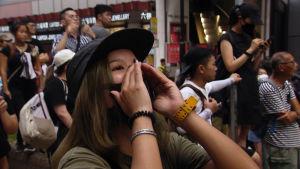 Hongkongilaiset ovat osoittaneet mieltään kaduilla jo kuukausien ajan.