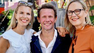 Linn Jung, Bo Sundström och Eva BIaudet poserar.