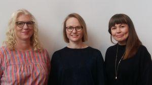 Ida Fellman, Maria Grundvall och Saara Fernström.