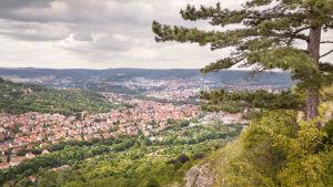 En vy över Jena i Tyskland.