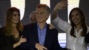 Macri erkände sig besegrad och höll ett tacktal till sina anhängare på söndag kväll.