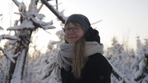Pauliina Leikas, Mustarinda-seuran toiminnanjohtaja Hyrynsalmella.
